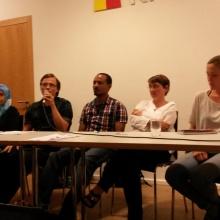 Diskussionsrunde mit Geflüchteten und UnterstützerInnen