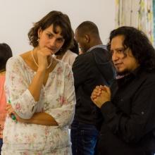 Silvana und Mauricio beim Beobachten der Kleingruppen, © WUS