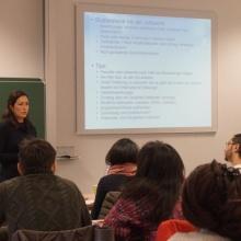 STUBE - Auf Jobjagd! Berufseinstieg in Deutschland - Präsentation Frau Sofia Navvaro Viloria
